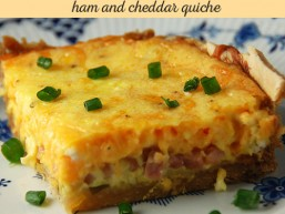 Simple Ham and Cheddar Quiche the whole family will love!