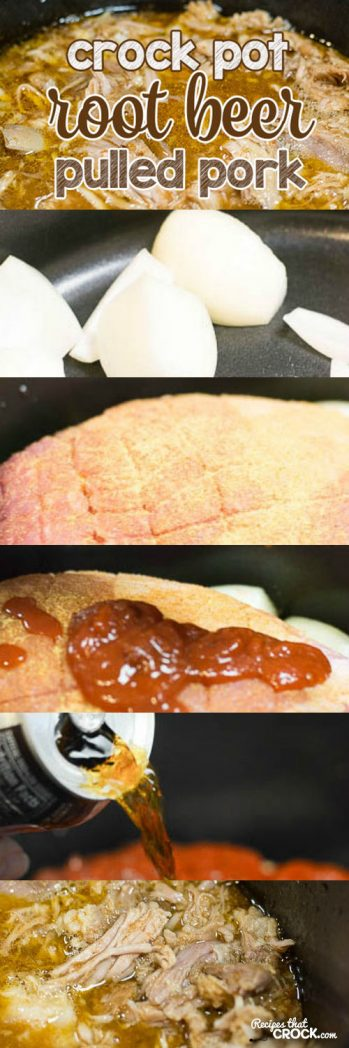 Root Beer Pulled Pork: Super easy crock pot recipe that produces fantastic pulled pork every time!