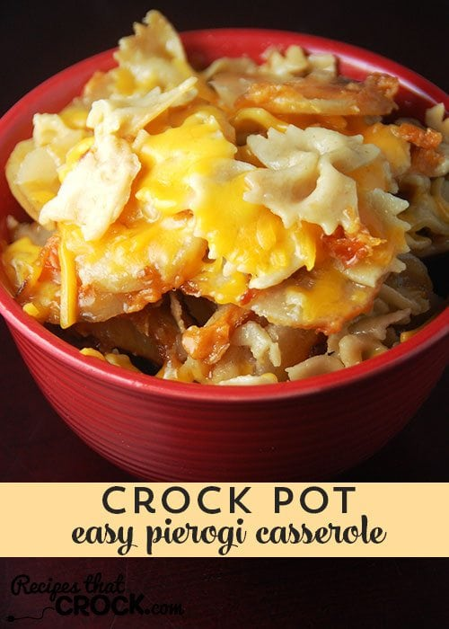 This Easy Pierogi Casserole is delicious and a snap to throw together!
