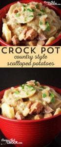 Delicious Crock Pot Country-Style Scalloped Potatoes!