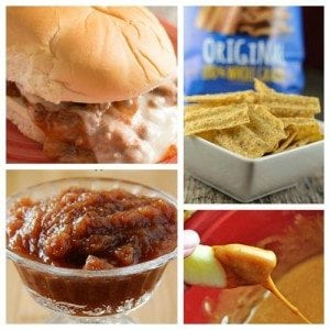 Easy Meal Ideas featuring Our Favorite Crock Pot Sandwiches! Five complete meal ideas includings sides and dessert. #ad #UniqueInEveryWave @sunchips0160