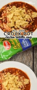 Crock Pot Chicken Tortilla Soup - ALL DAY Slow Cooker Recipe: Are you looking for a great recipe that you can cook all day long and come home to? Our Crockpot Chicken Tortilla Soup has a special secret that gives you an awesome all day flavor without drying out your chicken! #Ad #TysonProjectAPlus @TysonFoods