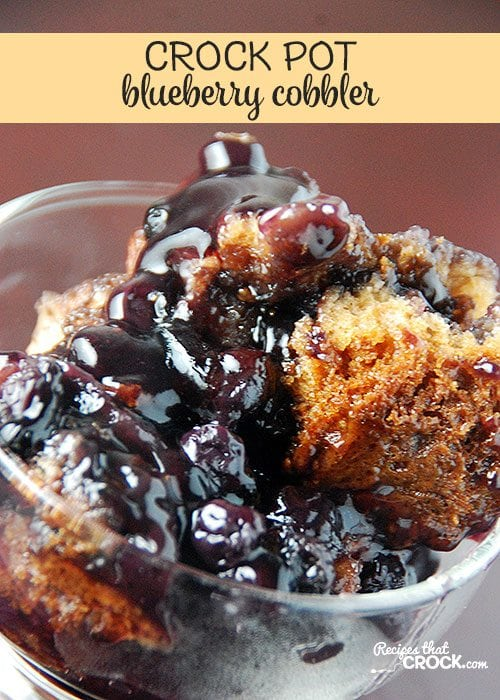 I love the combination of flavors in this Crock Pot Blueberry Cobbler!