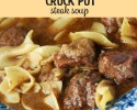 The whole family will love this delicious Crock Pot Steak Soup!