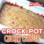 Are you looking for a great slow cooker dessert recipe that is super easy to throw together? Our Crock Pot Cherry Cobbler is the perfect sweet treat.