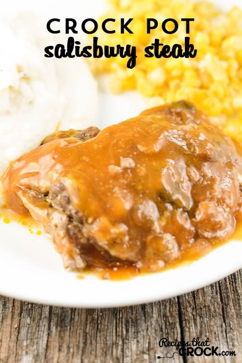 Crock Pot Salisbury Steak is homemade comfort food at its best. You won't believe how EASY this recipe is!