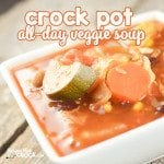 Crock Pot All Day Veggie Soup