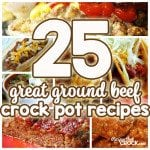 Great Ground Beef Crock Pot Recipes from some of our favorite food bloggers! Meatloaf, Cowboy Beans, Sloppy Joes, Chili, Taco Gorp, Lasagna, Bacon Cheeseburger Dip and much, much more!