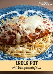 This Crock Pot Chicken Parmigiana is a delicious way to have an Italian meal from your slow cooker!