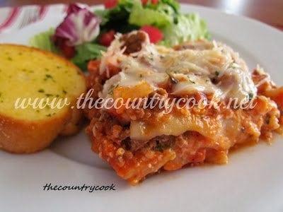 Lasagna (Crock Pot) thecountrycook