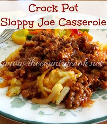 Sloppy Joe Casserole (with graphics, copyright, www.thecountrycook.net)