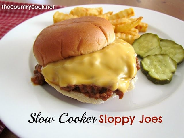 Slow Cooker Sloppy Joes (with graphics, thecountrycook.net)