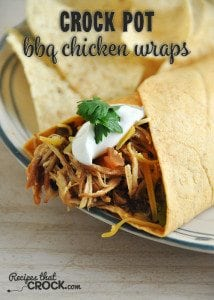 These Crock Pot BBQ Chicken Wraps are so delicious! Your entire family will love them!
