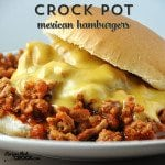 Crock Pot Mexican Hamburgers