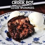 Crock Pot Turtle Brownies