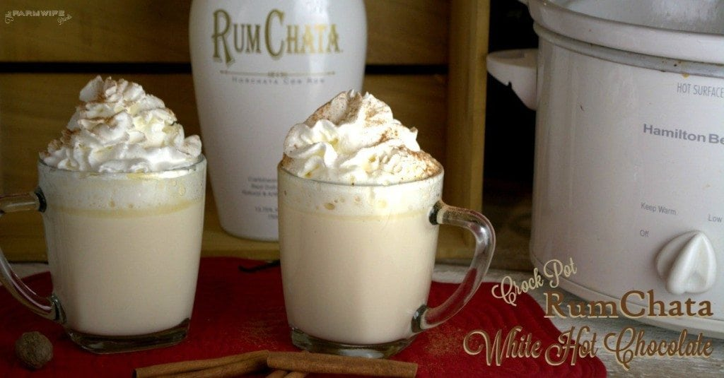 Crock Pot Rumchata White Hot Chocolate