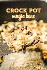 These Crock Pot Magic Bars are an awesome little sweet treat!