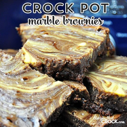 These ah-mazing Crock Pot Marble Browines are so good, you'll never use the box mix again...or make them in your oven!
