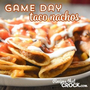 Check out these Crock Pot Game Day Tacos! They are so easy to make and are such a crowd pleaser!