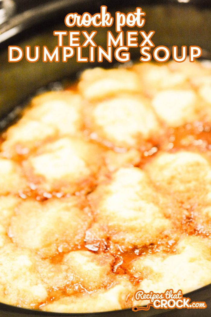 Are you looking for a new soup to switch up soup night? This Crock Pot Tex Mex Dumpling Soup has great flavors all topped with a yummy cornmeal dumpling!