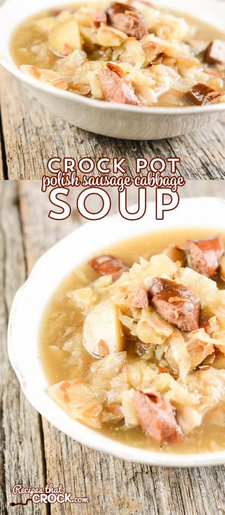 Crock Pot Polish Sausage Cabbage Soup is a hearty soup recipe with a unique flavor!