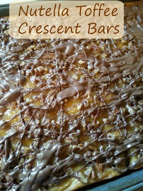 Nutella toffee crescent bars sgl