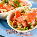 Quick and Easy Chicken Tacos (made from leftovers)