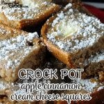 Crock Pot Apple Cinnamon Cream Cheese Squares