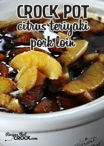 This Crock Pot Citrus Teriyaki Pork Loin is so easy to make and delicious!
