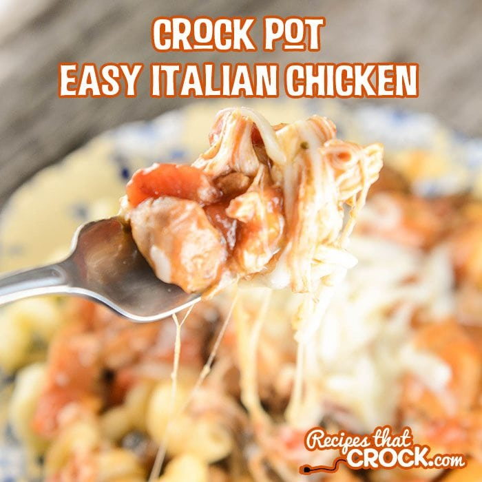 Crockpot Chicken Recipes Easy: Crock Pot Easy Italian Chicken