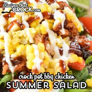 Our Crock Pot BBQ Chicken makes an incredible summer salad you will crave all year long!