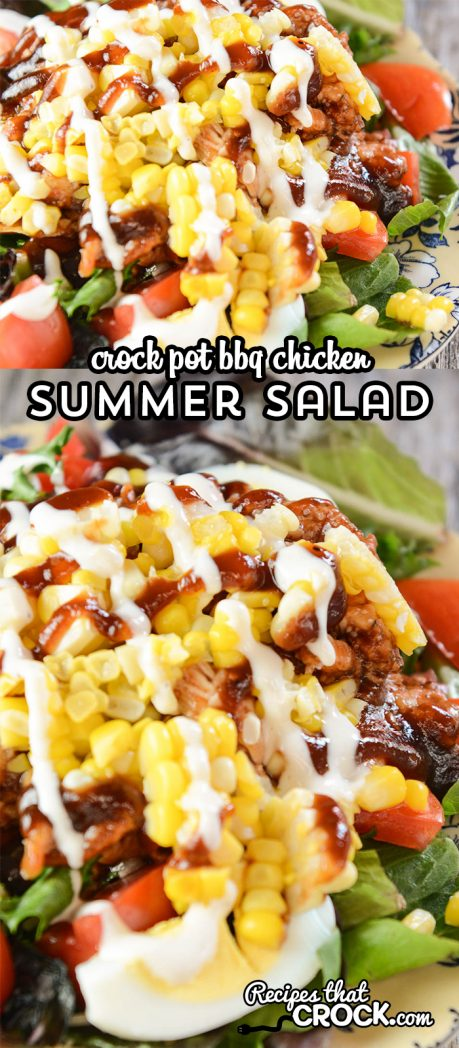 Our quick easy Crock Pot BBQ Chicken makes an incredible summer salad you will crave all year long!