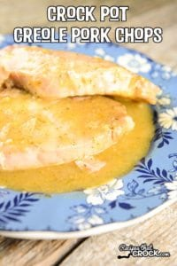 Crock Pot Creole Pork Chops are a great way to add a little kick to your traditional slow cooker pork chop recipes.