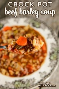 Crock Pot Beef Barley Soup: This classic soup is so easy to make and always a family favorite.