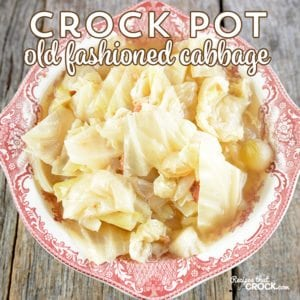 Crock Pot Cabbage Recipe: This super easy recipe tastes just like grandma used to make! Tender cabbage with the savory flavor of bacon and onions makes the perfect side dish for any family dinner.