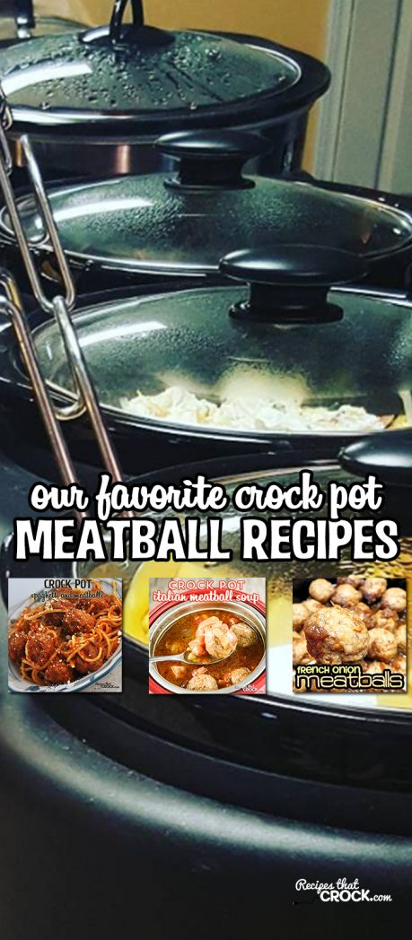 Crock Pot Meatball Recipes: Do you love meatballs? This is our largest collection to date of our crock pot meatball recipes! Our Favorite Meatball Recipes include tons of quick and easy family dinner meals as well as party appetizers.