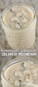 Homemade Substitute Cream of Mushroom Soup for recipes. Our flavorful alternative to canned cream soups in recipes.