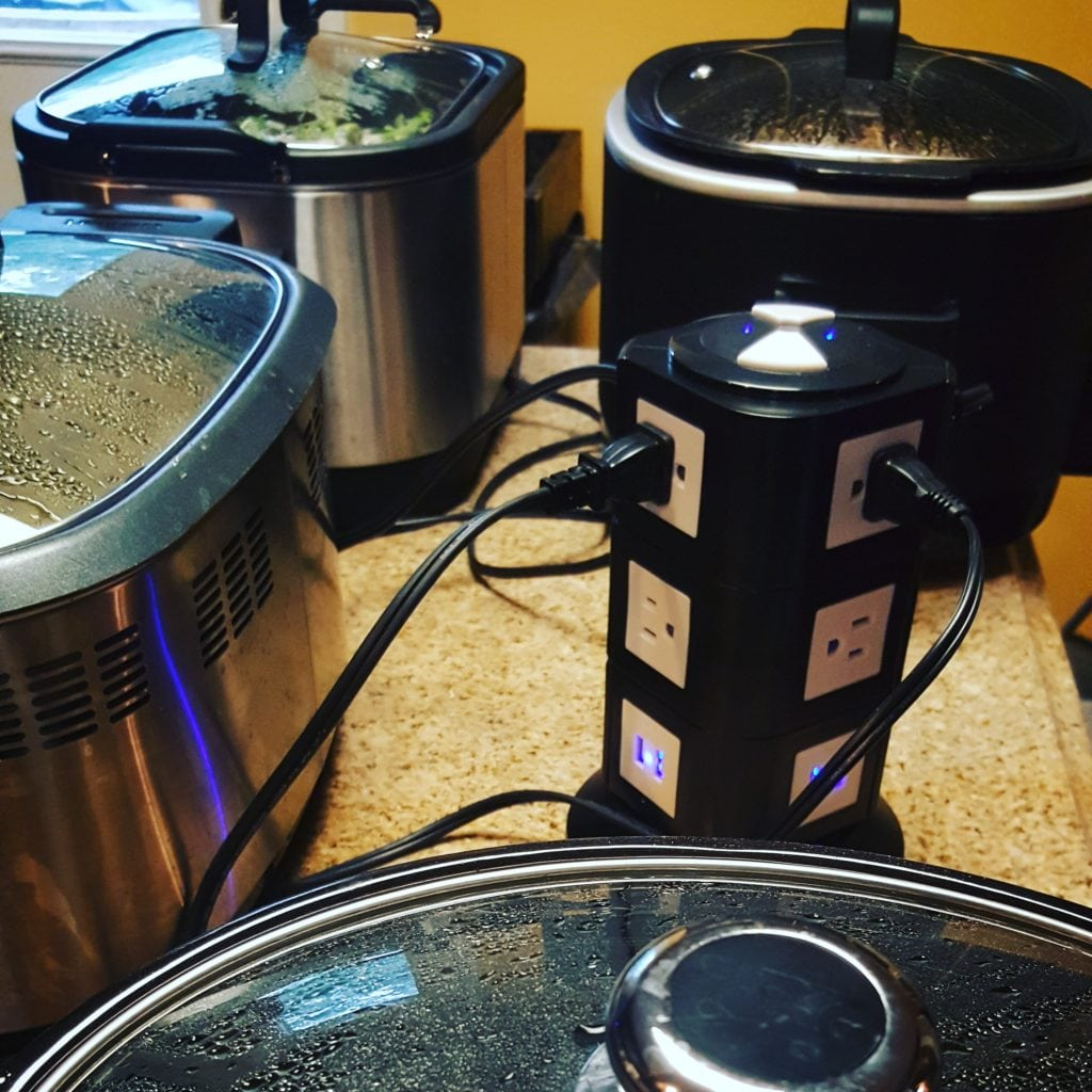 Power Strip Tower for Crock Pots