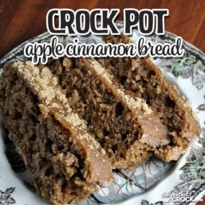 This Crock Pot Apple Cinnamon Bread is delicious and easy to make! Pros and novices alike will love this yummy bread!