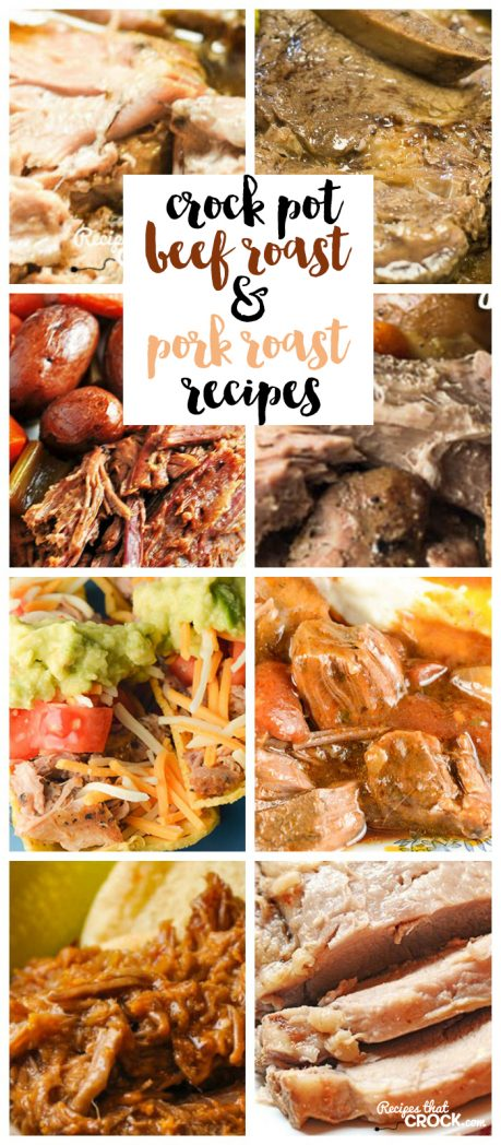 Are you looking for a good roast recipe? Here are some of our favorite Crock Pot Beef Roast and Slow Cooker Pork Roast recipes.