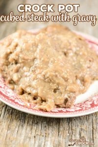 Are you looking for an easy cubed steak recipe? Our Crock Pot Cubed Steak with Gravy is a great homestyle family dinner recipe.