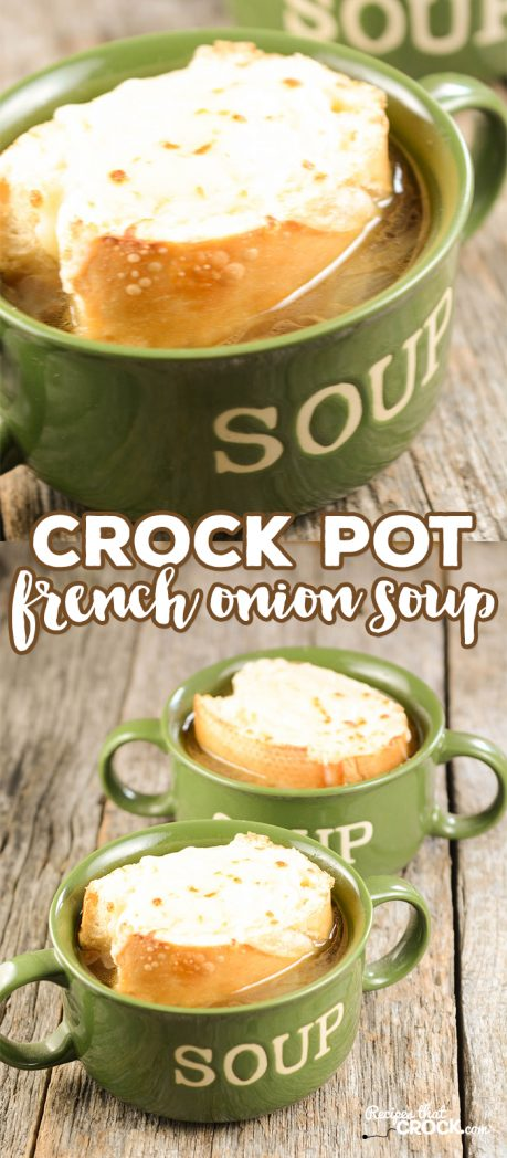 Nov 19,  · While French Onion Soup is good, I do think that a good broth takes a long time to develop great flavor which is something I love about this recipe. In this easy French Onion Soup recipe, the onions and broth have the chance meld in the slow cooker all /5(16).