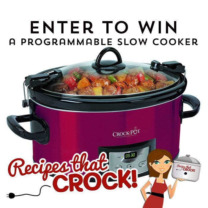 Enter to win a programmable Slow cooker on Recipes That Crock