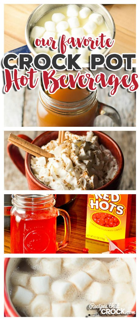 Are you looking for great hot beverages to serve a crowd over the holidays, while tailgaiting or after an afternoon in the cold? These crock pot hot beverage recipes are so much fun to share!