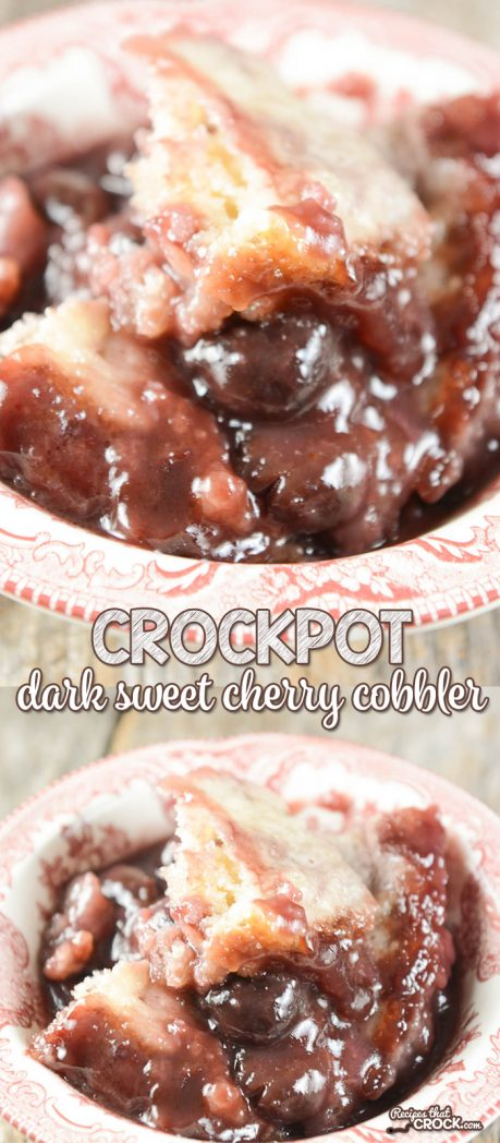 Are you a fan of dark sweet cherries? Our Crock Pot Dark Sweet Cherry Cobbler is a delicious alternative to the typical tart red cherry cobbler.