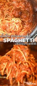 Are you looking for a good Electric Pressure Cooker Recipe for your Instant Pot? Our Electric Pressure Cooker Spaghetti with Homemade Meatballs is simple to make, quick to cook and so good!