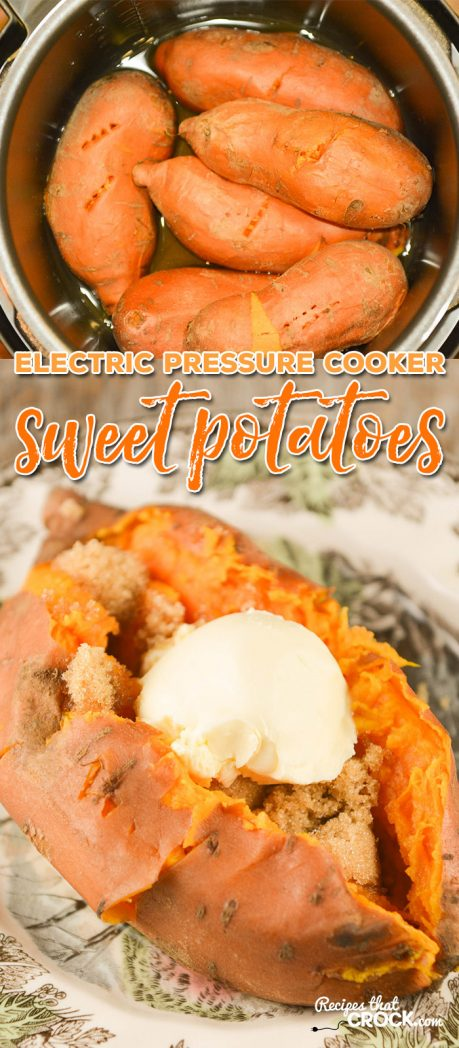 Are you looking for Instant Pot Recipes or great dishes for your electric pressure cooker? If you are wondering how to cook sweet potatoes in an electric pressure cooker, this is the recipe for you!
