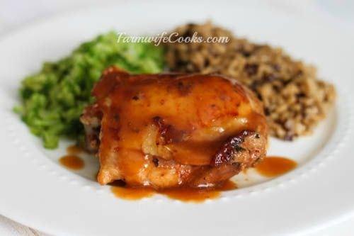 Honey Garlic Chicken with Gravy