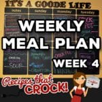 Weekly Meal Plan – Crock Pot {Week 4}