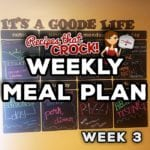 Weekly Meal Plan – Crock Pot {Week 3}